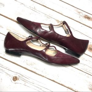 Marc Fisher Shoes - Marc Fisher Burgundy Pointy Toe Flats Strappy